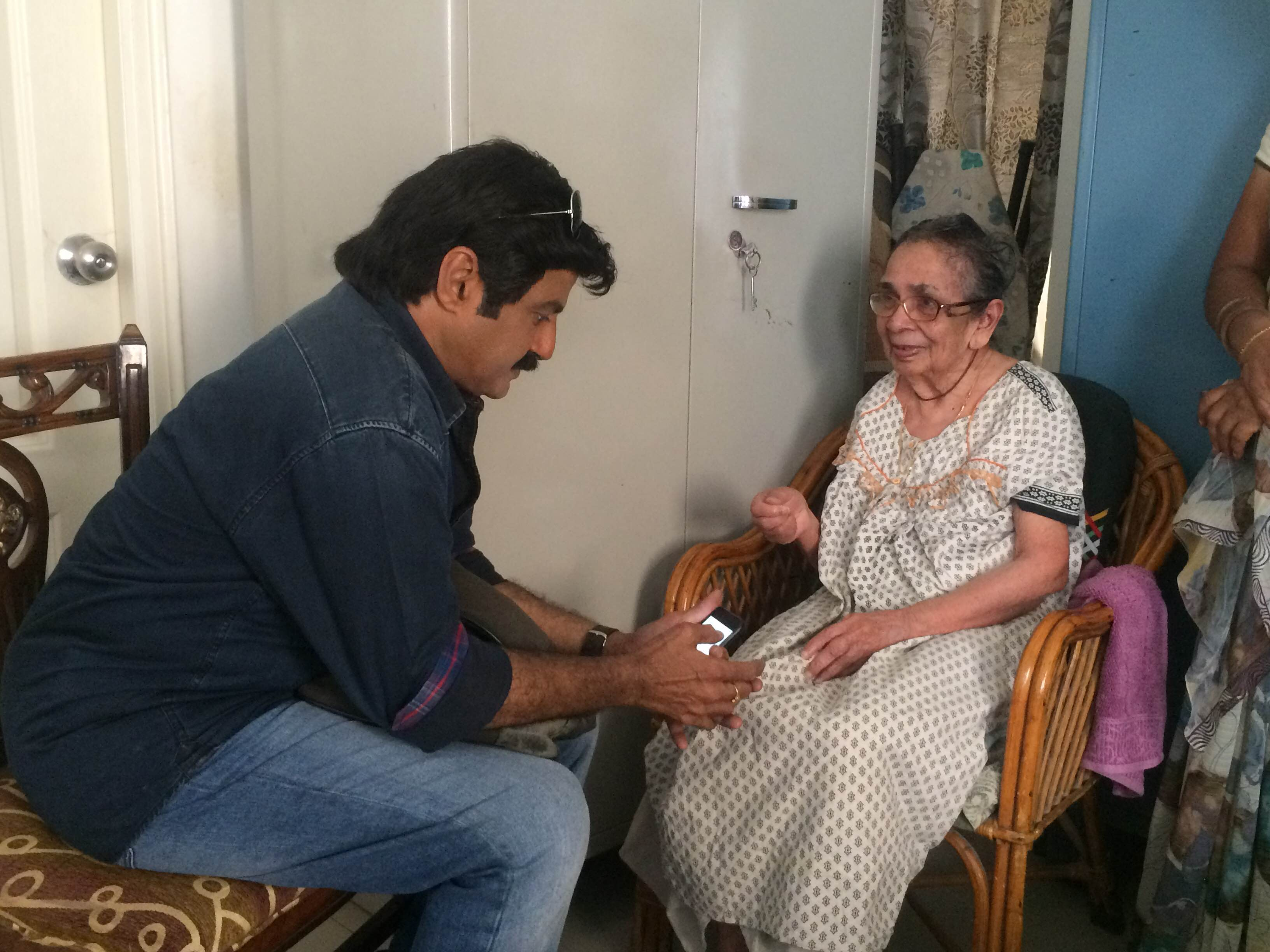 Balakrishna meets his fan Vijaya